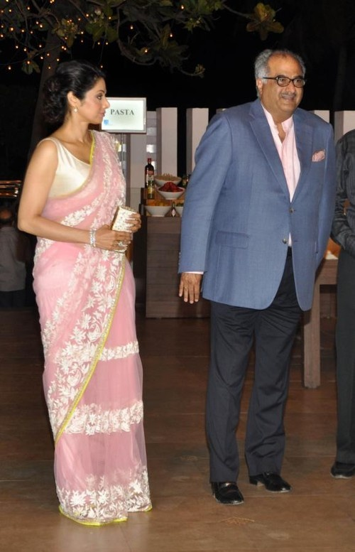 Prabodh Davkhare's Birthday Party - Sridevi, Boney Kapoor, Kader Khan