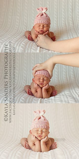 Sharing for others knowledge.  How to pose a baby safely! not sure, feels too posed