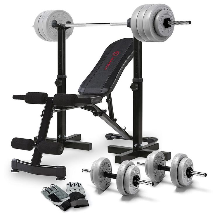 Home Fitness Equipment Adjustable Weight Bench Dumbbell Stand Rack Set Gloves