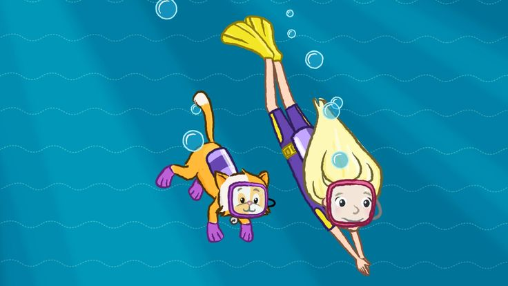 Melody and her pet best friend dives into the ocean using their imaginations
