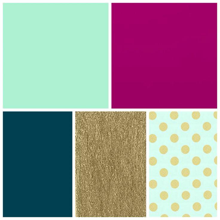 Mint Fuschia Dark Teal Gold Bedroom Colors Bedroom