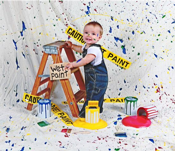 Creative, Colorful and very Unique~Spilled Paint Set~   Photography Prop by RockinRphotoprops on Etsy, $58.00