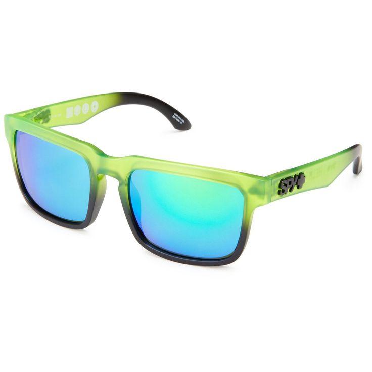 Spy Optic Helm Sunglasses Rolling Hills Green / Black Frame Green Mirror Lenses