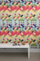These wall tiles are repositionable so you can make endless pattern combinations.