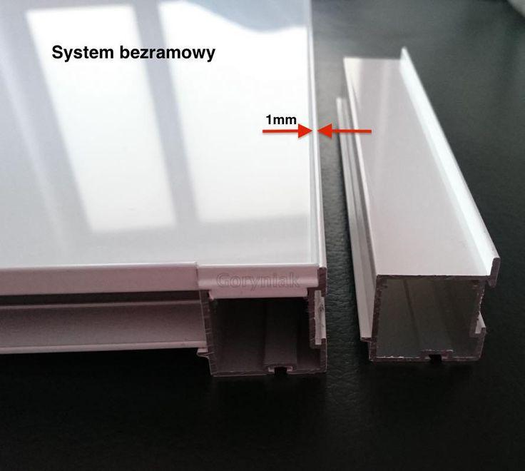 """Jako pierwsi w Wielkopolsce wprowadzamy """"bezramowy"""" system drzwi suwanych http://www.goryniak.pl/images/bezramkowy.jpg Widoczna jest zaledwie 1mm krawędź profilu (srebrny lub biały w ofercie). http://www.goryniak.pl/systemy_aluminiowe.html"""