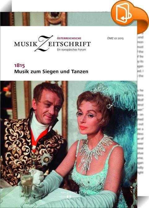 """1815 - Musik zum Siegen und Tanzen    :  """"Der Weltkreis ruht, von Ungeheuern trächtig"""", schrieb Goethe nach dem Sturz Napoléons, als der Wiener Kongress Europa aus dem Geist der Ancienne Époque neu ordnete. Während am Horizont Ruhe einkehrte, wurde in der Verhandlungsstadt die Musik laut – zumal dort, wo """"sie am sinnlichsten mit dem Leben vermählt ist, im Tanze"""" (R. Schumann). Mit dem Walzer brach eine neue Dimension von Unterhaltungskunst an. Gestützt auf neueren Forschungsstand schre..."""