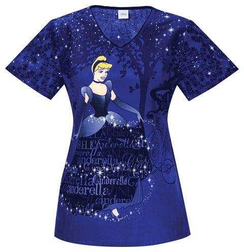Scrub Identity Cinderella S Sparkle Dreams Scrub Top For