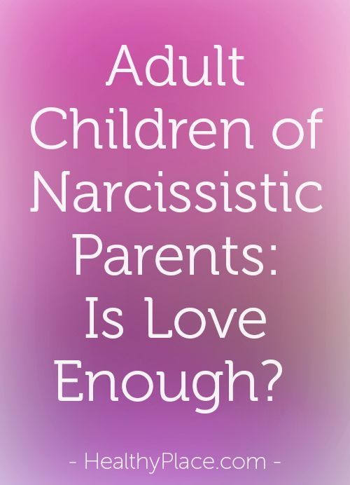 Adult Children of Narcissistic Parents: Is Love Enough?  *short but powerful article about how a parent's love is important, but what children also need is for a loving parent to give them a VOICE*