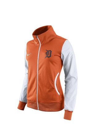 Nike Detroit Tigers Womens Classic Track Orange Track Jacket