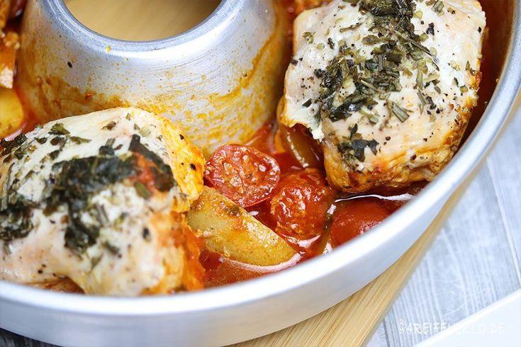 Toskanisches Huhn aus dem Omnia-Backofen
