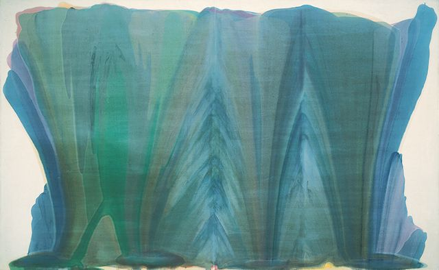 morris louis   Morris Louis, Tet , 1958. Synthetic polymer on canvas, 95 × 153 in ...