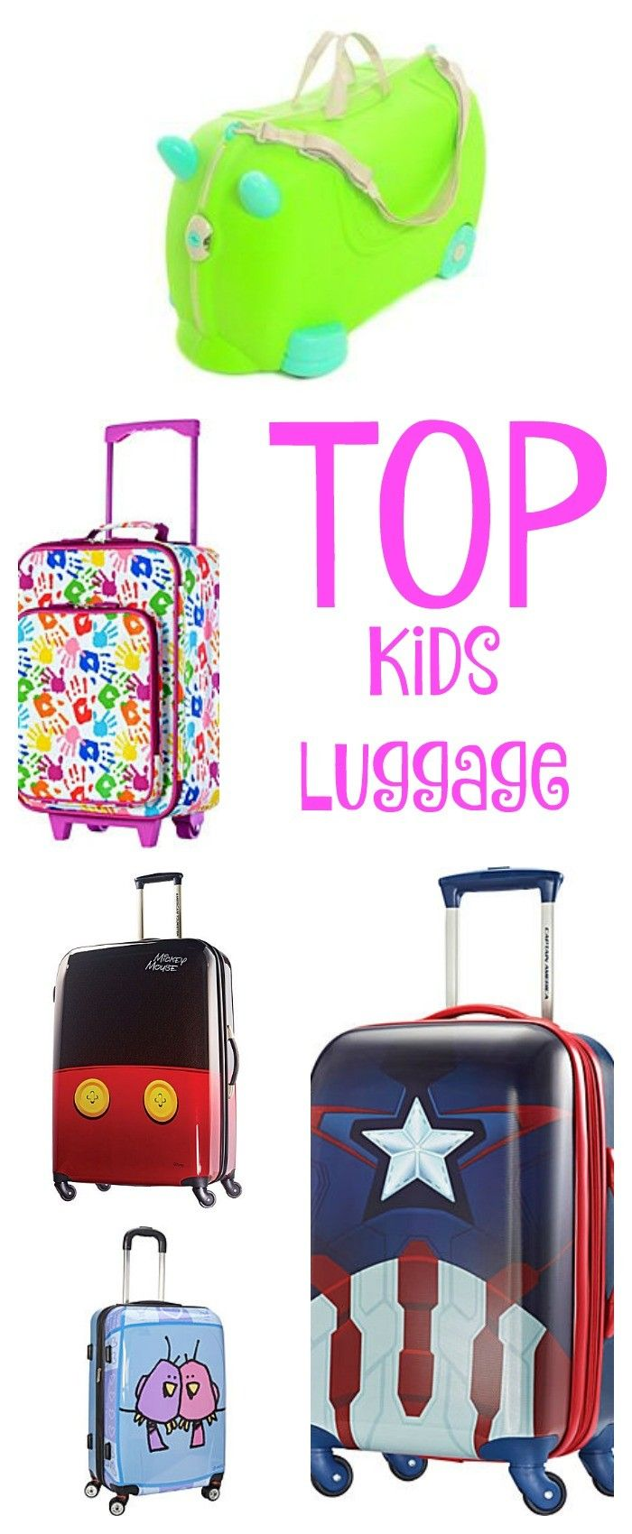 Family travel means packing the kids stuff. Letting them have their own suitcase is a great idea. Make smart decisions on you kid luggage purchase.