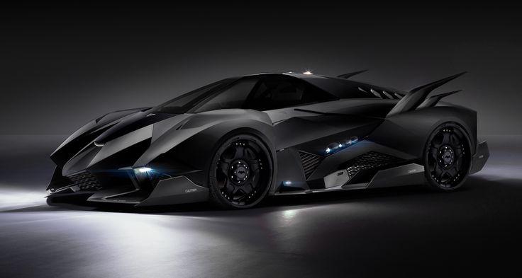 fan made concept art for the new batmobile  in superman vs