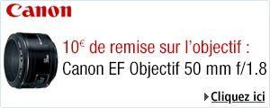 10€ de remise sur l'objectif Canon EF 50mm f/1.8 II sur Amazon
