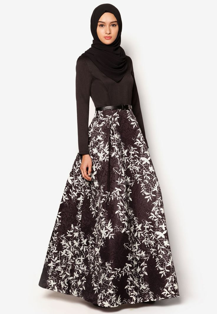 Zalia Silhouette Print Fit And Flare Dress I Beli di ZALORA Indonesia ®