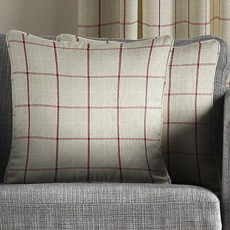 Montgomery Red 'Burchill' Cushion Covers | Debenhams