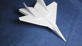 How to make an F15 Jet Fighter Paper Plane (Tadashi Mori), via YouTube.