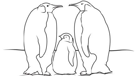 penguin family coloring pages - 2084 best coloring pages images on pinterest