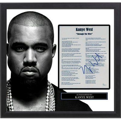 """LuxeWest Kanye West """"Through The Wire"""" Autographed Lyric Collage"""