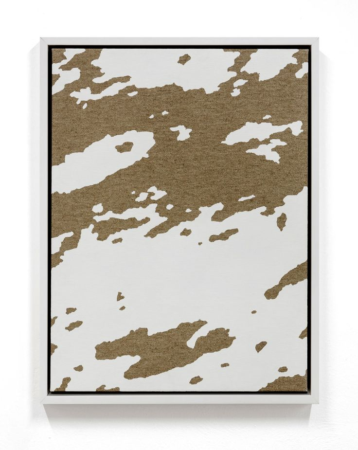 Pedro Matos_Fixed Income  2016 Enamel on unprimed cotton canvas, wood stretchers, wood frame 15 7/10 × 11 4/5 in 40 × 30 cm