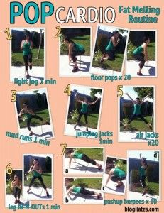 POP Cardio: Fat Melting Routine Printable. Repeat 4x for ultimate fat burn!