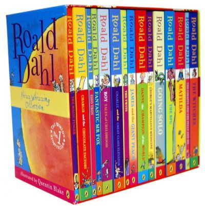 Roald Dahl's Phizz-whizzing Collection I am dying for this. My life will be complete when I can lay in a pile of my favorite books from times passed.