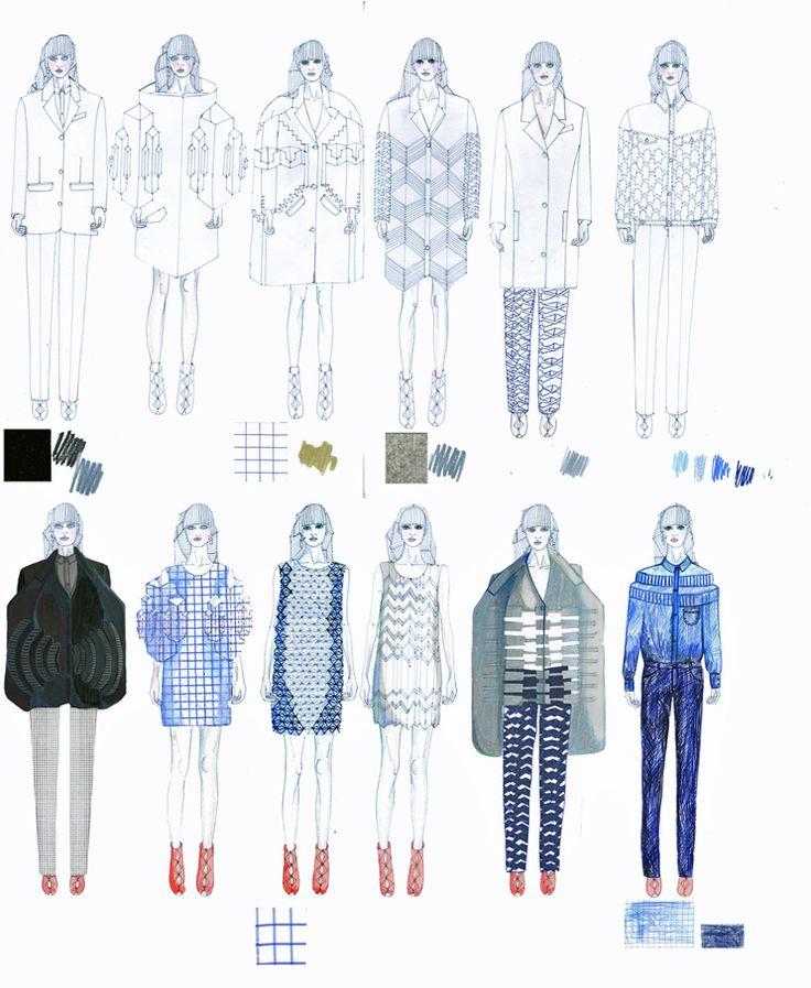 Fashion Portfolio - fashion design; developing a fashion collection; the fashion sketchbook