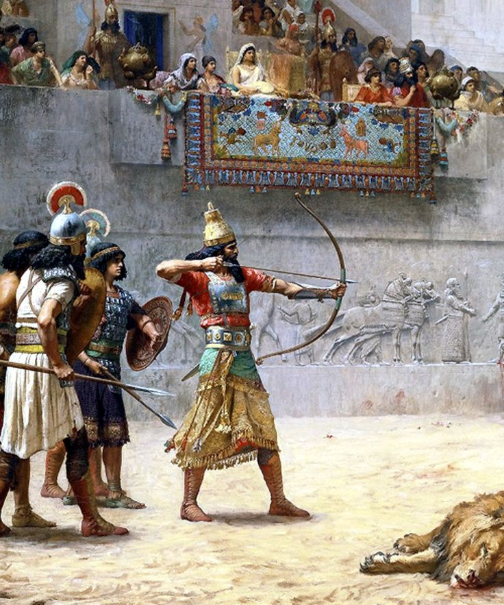 Diversión de un rey asirio - Jean-Léon Gérôme