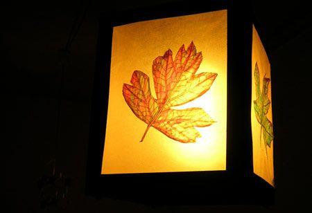 Herbstliche Blätter-Laterne