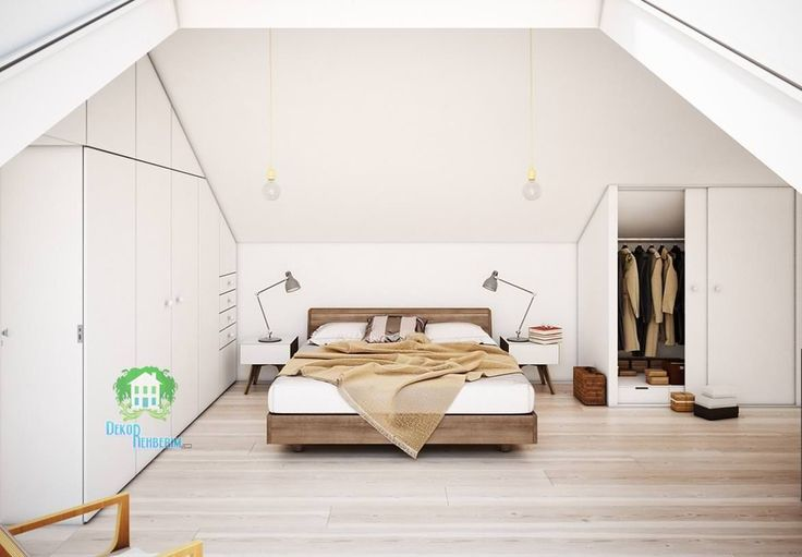 Çatı katı yatak odası tasarımları