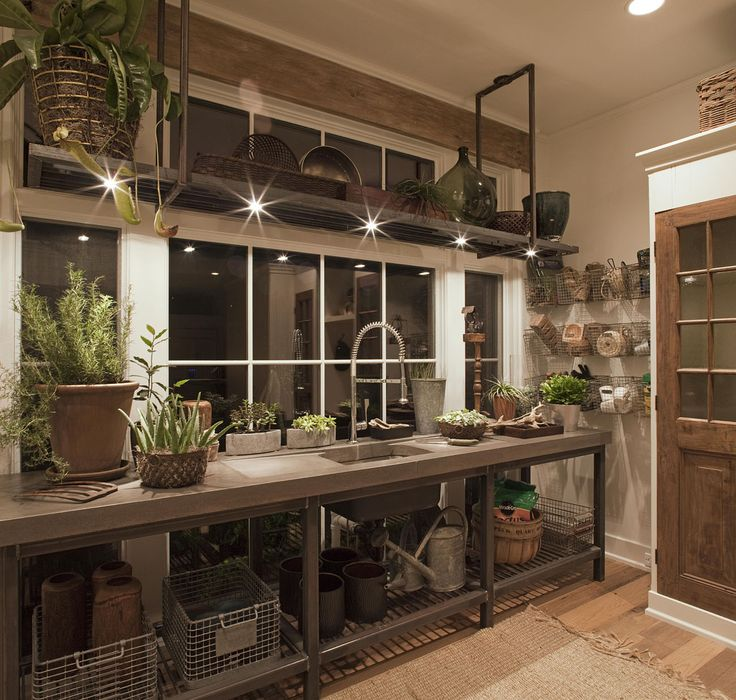 love every inch of this....locker baskets on wall, reclaimed door.  this house was on the parade of homes.  this room was AMAZING in person