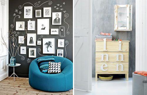 Ideeën met onze Perfect Effects, schoolbord verf of Velvet Touch, de keuze is aan jou.