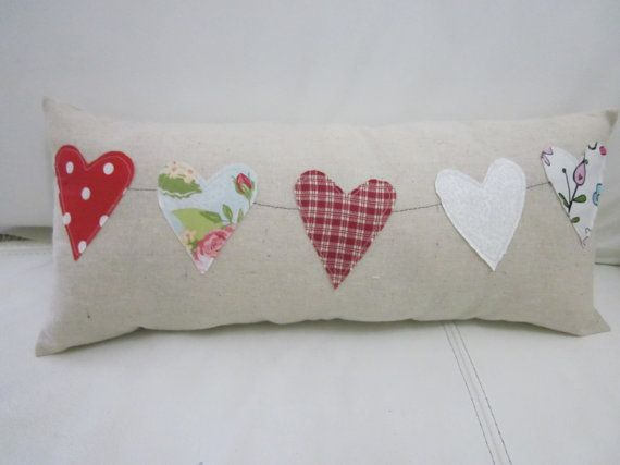 Heart applique pillow express your love in a pillow by casapoema, $15.00