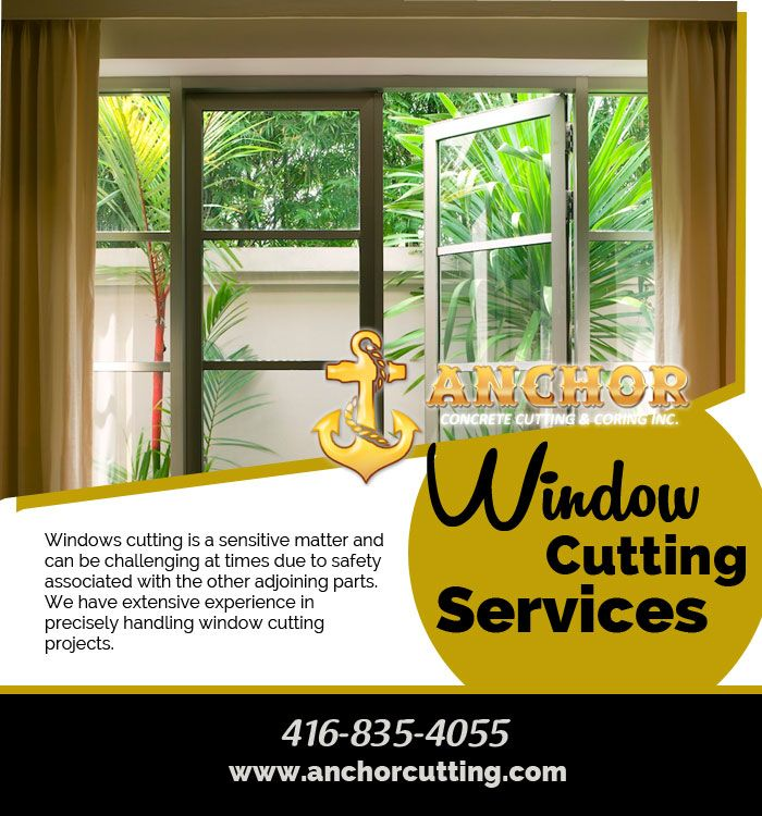 We provides you #quality #reliable & fast #result for #window_cutting_services in #Brampton. So visit at anchorcutting.COM !!  #WindowCuttingBrampton call today: 416-835-4055  7900 Hurontario Street Brampton, Ontario, ON L6Y 0C7