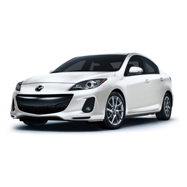 2013 Mazda 3 i Grand Touring - Crystal White Pearl Mica with Dune leather interior, moon roof, alloy wheels and 40 mpg...this is what i want my next car to be.