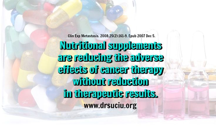 Picture Nutritional supplements bennefits in cancer - drsuciu