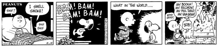 Sep 19, 1966, Snoopy's house burns down.
