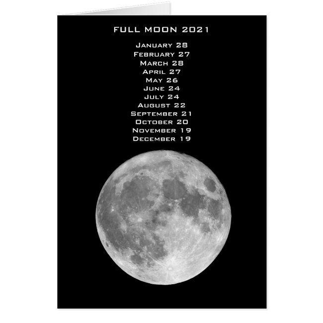 Full Moon Dates Calendar 2021   Zazzle.in 2020   Moon date