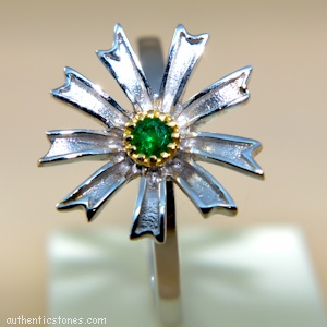 925 Sterling Silver Jewellery  Emerald Silver Ring shopping.ebizz@gmail.com