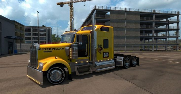Kenworth W900 Caterpillar Skin for ATS - American Truck Simulator mod | ATS mod