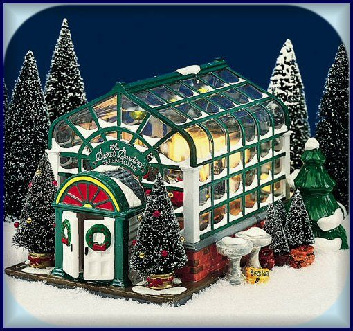 Secret Garden Greenhouse Snow Village. Cute! Like Frosty ...