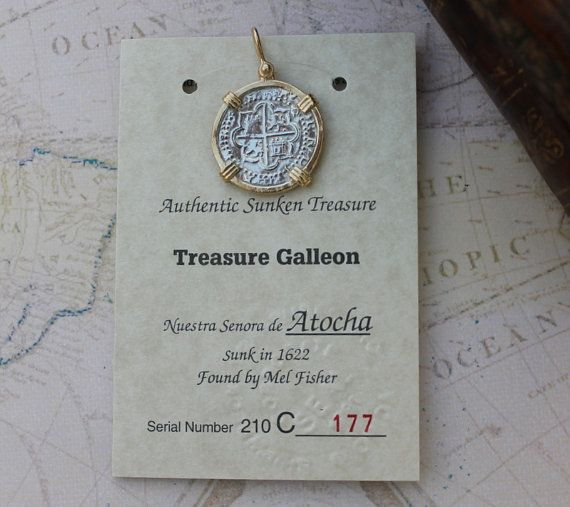 Antique Atocha Silver Pendent Recovered Spanish Treasure Galleon - Silver Ingot Necklace Jewelry on Etsy, $125.00