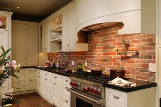 Brick Backsplash Would Look Great In My Current Kitchen