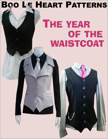Year of the waistcoat – BooLeHeart, Sew, sewing,s ewalong, sewalongs, sew-alongs, sew along, sewing pattern, designer, fashion, sew your own, learn to sew, free