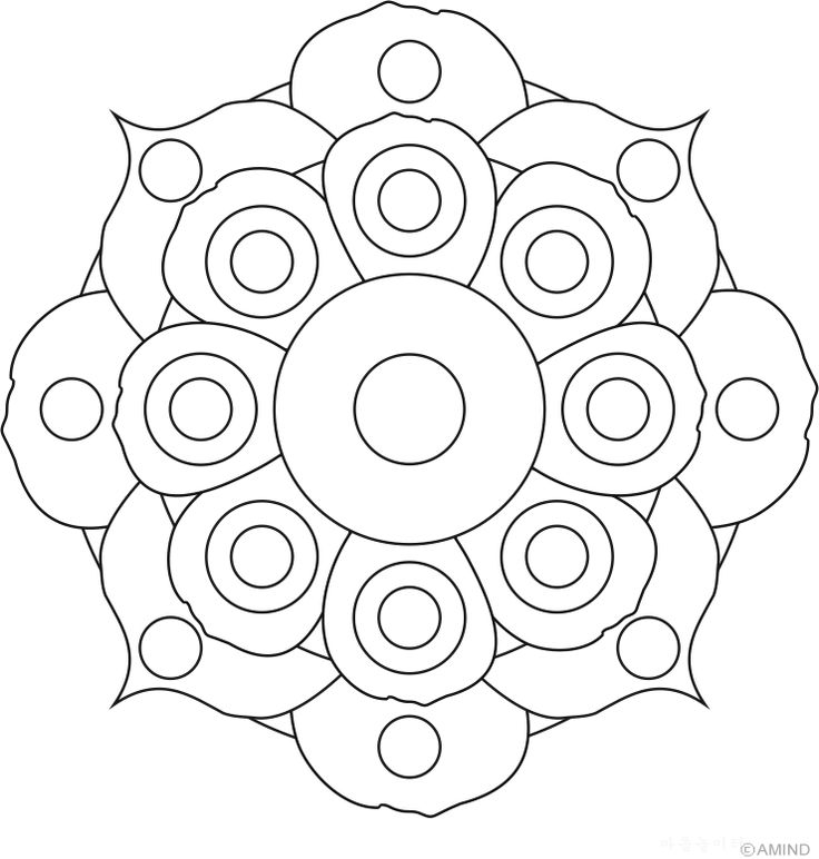 Free mandalas coloring > Flower Mandalas > Flower Mandala Design 12