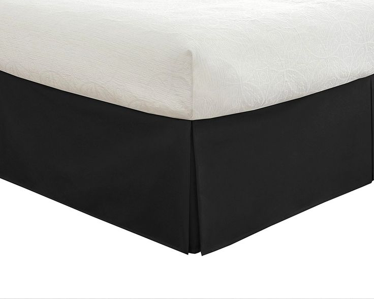Bedding Tailored Bed Skirt Classic14 Drop Length Pleated Styling Lux Hotel #LuxHotel