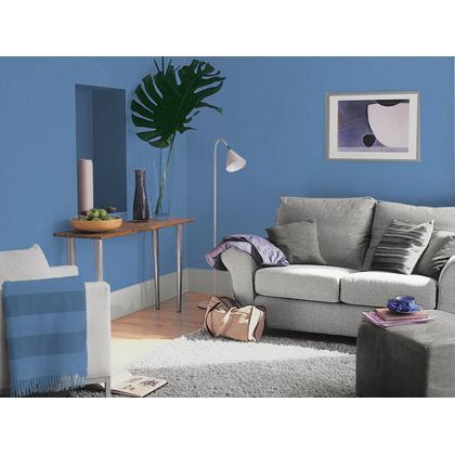 Sea blue dulux paint available now at homebase in store for Dulux paint room ideas