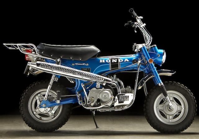 Fully restored early production 'Silver Tag' model,1969 Honda Trail 70