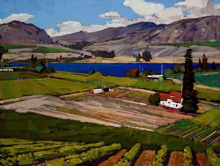 Okanagan valley by min ma art dwellings and city for Landscaping rocks kelowna
