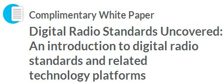 JRD Communications are proud to be a Tait Communications solution partner. As such, we are pleased to offer Complimentary White Papers related to the radio communications industry. The white papers will be available through the Tait website:  Digital Radio Standards Uncovered: An introduction to digital radio standards and related technology platforms  http://jrd.com.au/white-papers.html